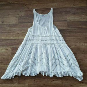 Intimately Free People Small White Lace Night Gown
